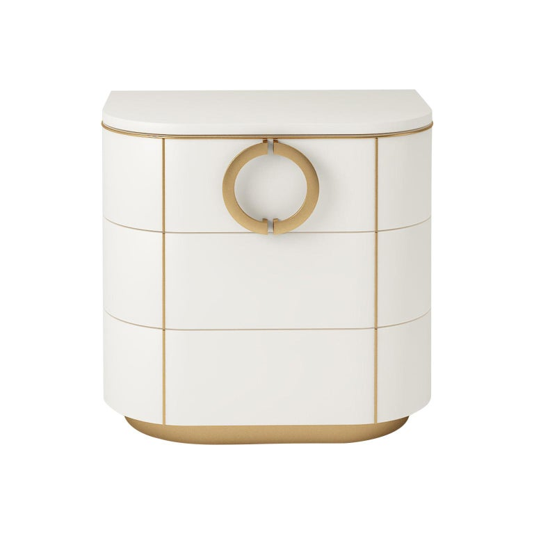 Isabella Costantini, Italy, Maddalena Nightstand with Three Drawers For Sale