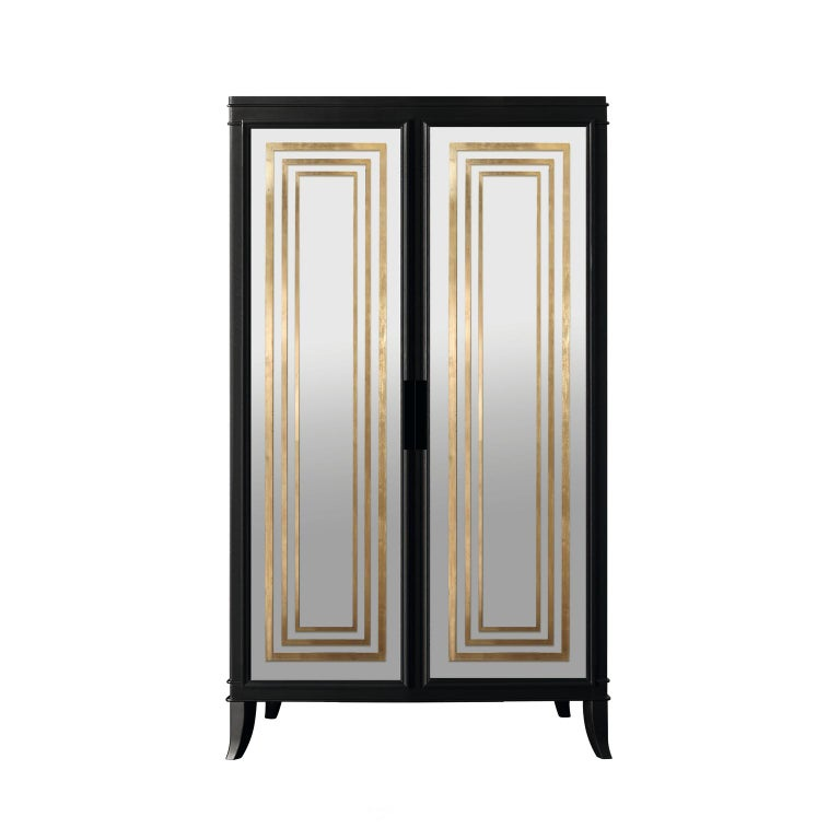 Italian Isabella Costantini, Italy, Olimpia Armoire D45 Mirrored Doors For Sale