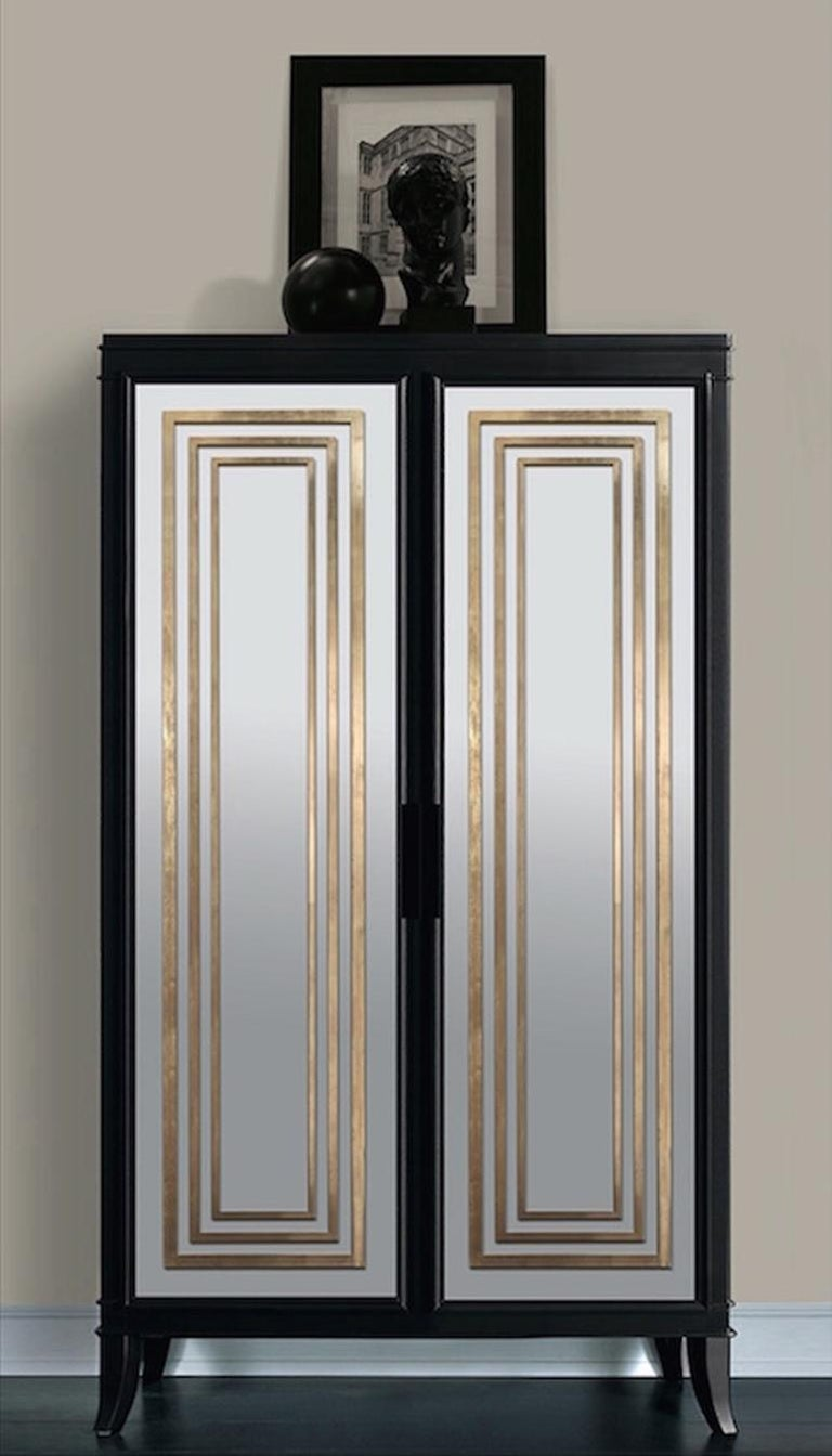 Modern Isabella Costantini, Italy, Olimpia Armoire D45 Mirrored Doors For Sale