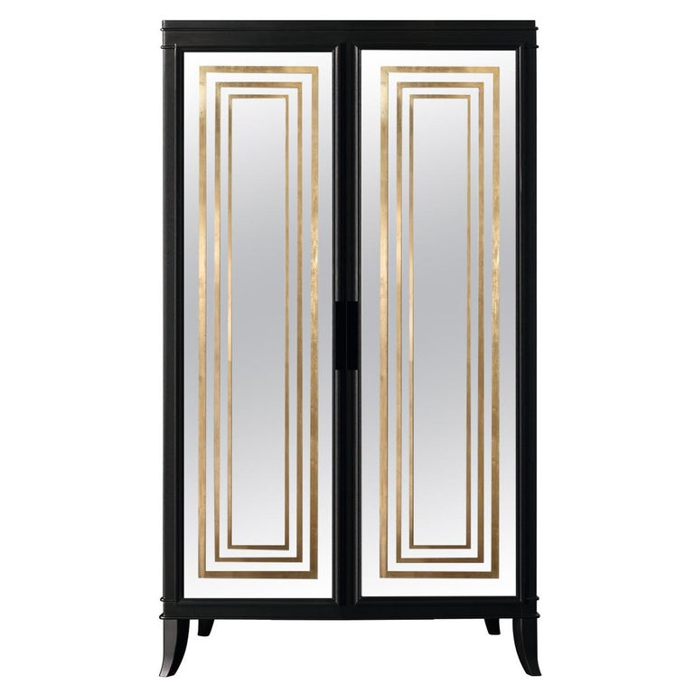 Isabella Costantini, Italy, Olimpia Armoire D45 Mirrored Doors For Sale