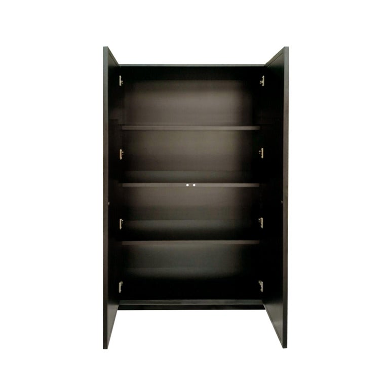 Modern Isabella Costantini, Italy, Zoe Armoire D40 Mirrored Doors and Plinth Base For Sale