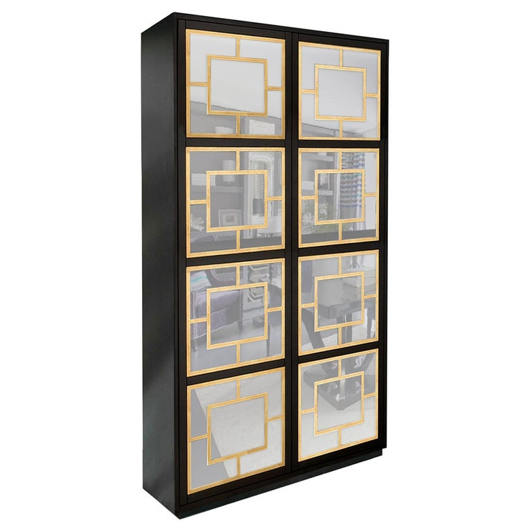 Isabella Costantini, Italy, Zoe Armoire D40 Mirrored Doors and Plinth Base For Sale