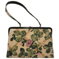 Isabella Fiore Floral Design Fabric Handbag