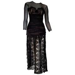 "Isabelle ALLARD Paris ""New"" Couture Chest skirt lace Silk Cotton Dress - Unworn"