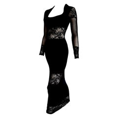 "Isabelle ALLARD Paris ""New"" Couture Cotton Lace Bands Wool Silk Dress - Unworn."