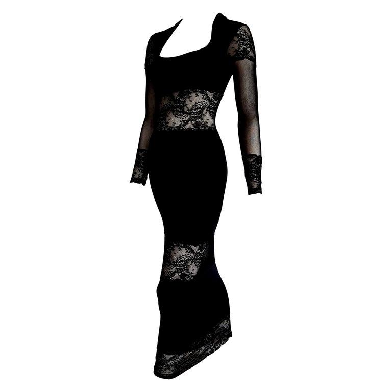 "Isabelle ALLARD Paris ""New"" Couture Cotton Lace Bands Wool Silk Dress - Unworn. For Sale"