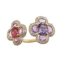 Isabelle Langlois Gold Diamond Gemstone Ring