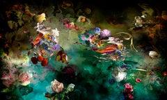 Avant que #1 - Floral landscape colorful blue dominant contemporary photograph