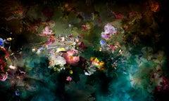 Avant que #2 - Floral landscape colorful blue dominant contemporary photograph