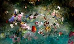 Avant que #3 - Floral landscape colorful blue dominant contemporary photograph