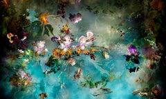 Avant que #4 - Floral landscape colorful blue dominant contemporary photograph
