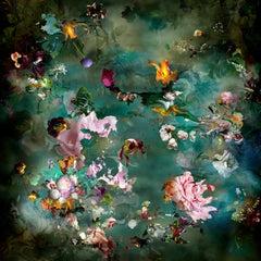 Avant que #5 - Floral landscape colorful blue dominant contemporary photograph