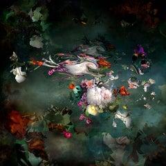 Avant que #7 - Floral landscape colorful blue dominant contemporary photograph