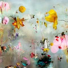 New Rome #1- Floral landscape soft pastel color contemporary photograph