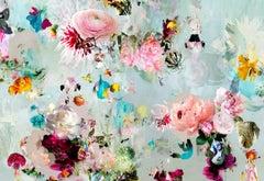 New Rome #10- Floral landscape soft pastel color contemporary photograph