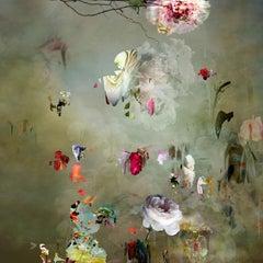 New Rome #11- Floral landscape soft pastel color contemporary photograph