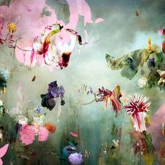 New Rome #2- Floral landscape soft pastel color contemporary photograph