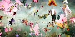 New Rome #3- Floral landscape soft pastel color contemporary photograph