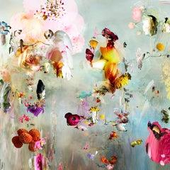 New Rome #5- Floral landscape soft pastel color contemporary photograph