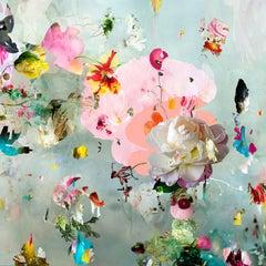 New Rome #7- Floral landscape soft pastel color contemporary photograph framed