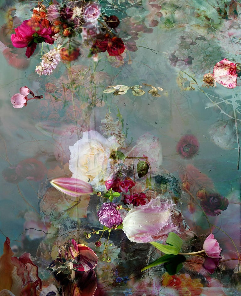 Isabelle Menin Still-Life Photograph - Sinking #1 - Floral still life contemporary photography
