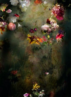 Solstice #6 - Vertical Floral dark abstract landscape contemporary photograph