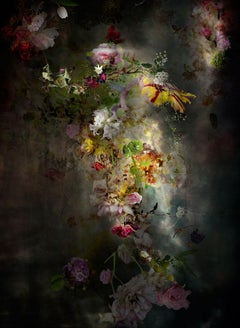 Solstice #7 - Vertical Floral dark abstract landscape contemporary photograph