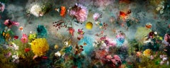 Song  #12 - large abstract floral landscape still life nature colorful photo