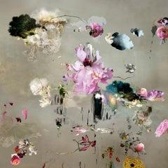 Tentation #1- Floral landscape soft pastel color contemporary photograph
