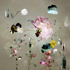 Tentation #10- Floral landscape soft pastel silver color contemporary photograph