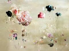 Tentation #3 Floral landscape soft pastel color contemporary photograph