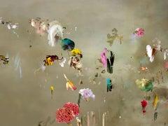 Tentation #6-Floral landscape soft pastel color contemporary photograph