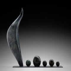 Alma Mater - Small Abstract Bronze Sculpture