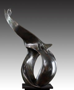 Cheminement - Bronze Figurative Sculpture
