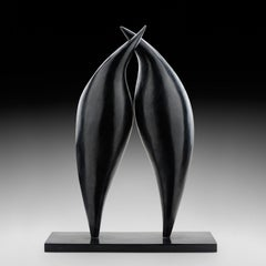 Effleurement - Bronze Abstract Sculpture