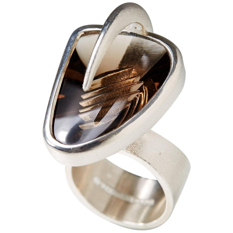 """""""Isamo"""" Ring Designed by Björn Weckström for Lapponia, Finland, 2008 For Sale"""