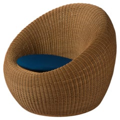 """Isamu Kenmochi Easy Chair from the """"Rattan Furnitures"""" Series, circa 1958"""