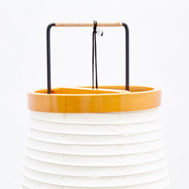 Isamu Noguchi 14A Floor Lamp Washi Paper Bamboo Japan In Good Condition For Sale In Barcelona, Barcelona