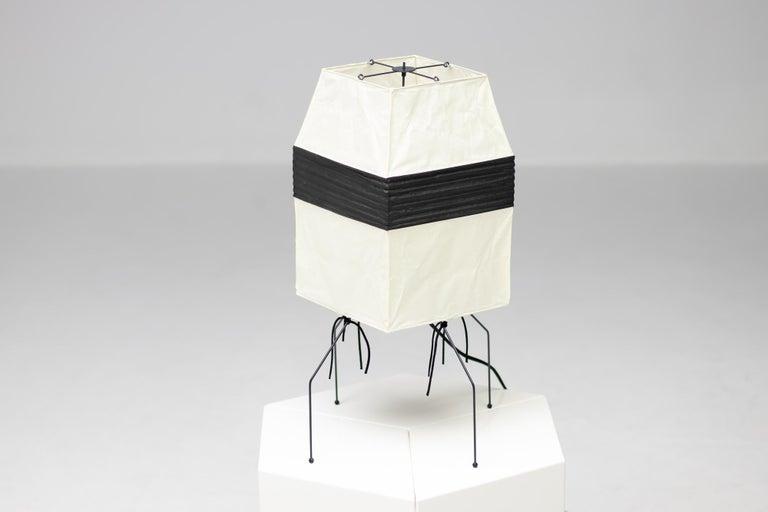 Mid-Century Modern Isamu Noguchi Akari UF 1-H Table Lamp For Sale