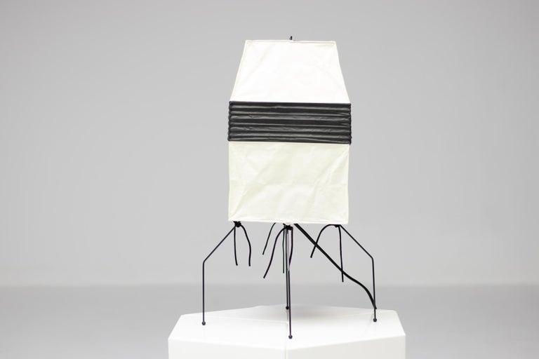 Japanese Isamu Noguchi Akari UF 1-H Table Lamp For Sale