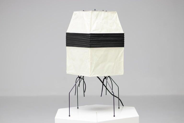 Enameled Isamu Noguchi Akari UF 1-H Table Lamp For Sale
