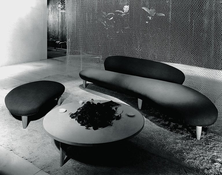 Contemporary Isamu Noguchi Freeform Sofa and Ottoman by Vitra For Sale