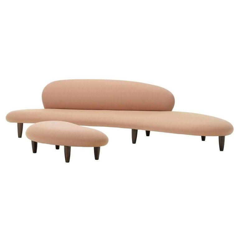 Isamu Noguchi Freeform Sofa and Ottoman by Vitra For Sale