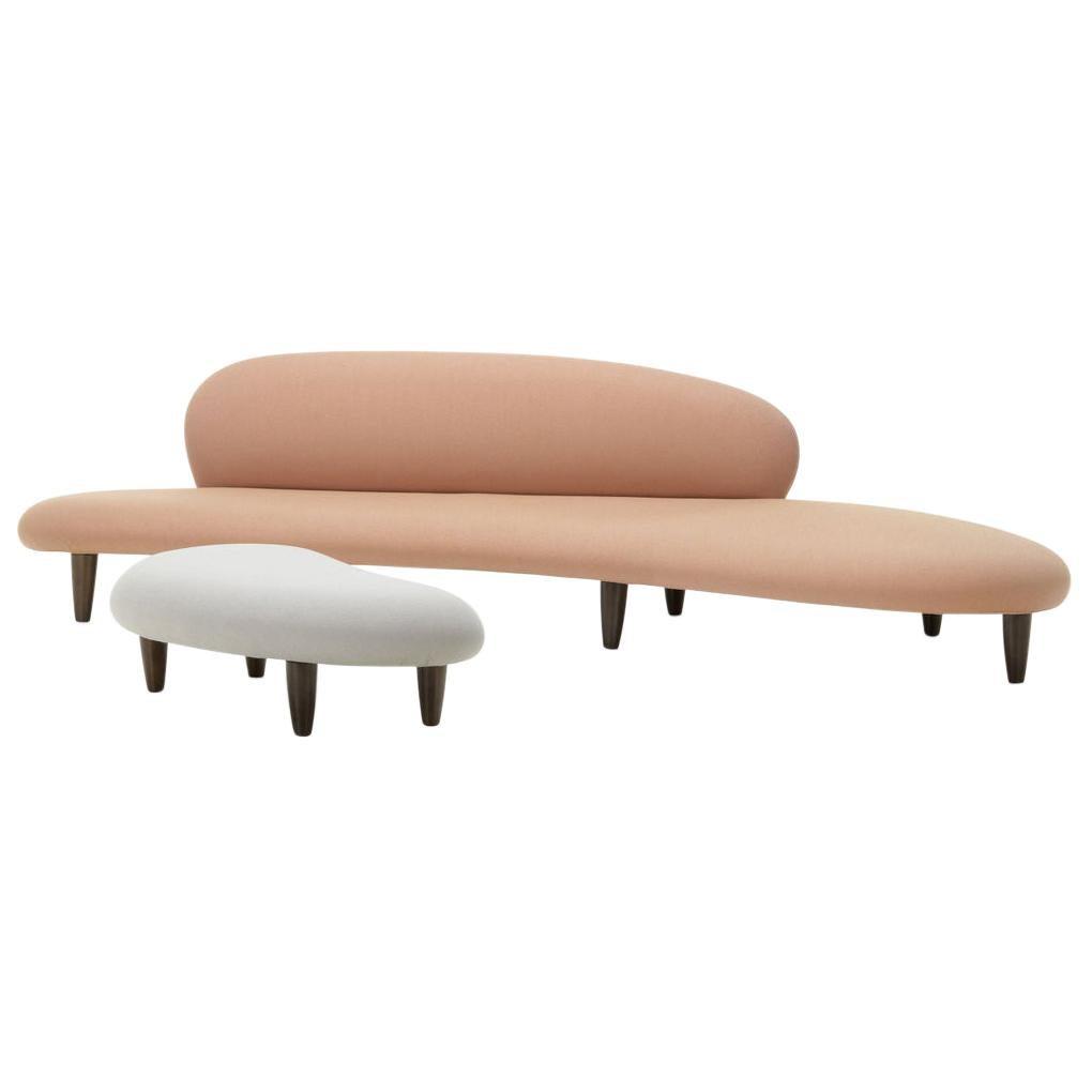 Isamu Noguchi Freeform Sofa and Ottoman by Vitra