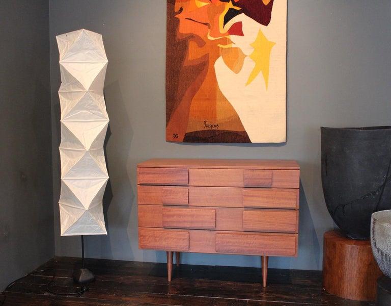 Isamu Noguchi L8 floor lamp with rare base variation.