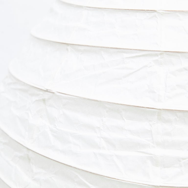 Japanese Isamu Noguchi Mid-Century Modern Akari Bamboo Washi Paper Floor Lamp 22N For Sale
