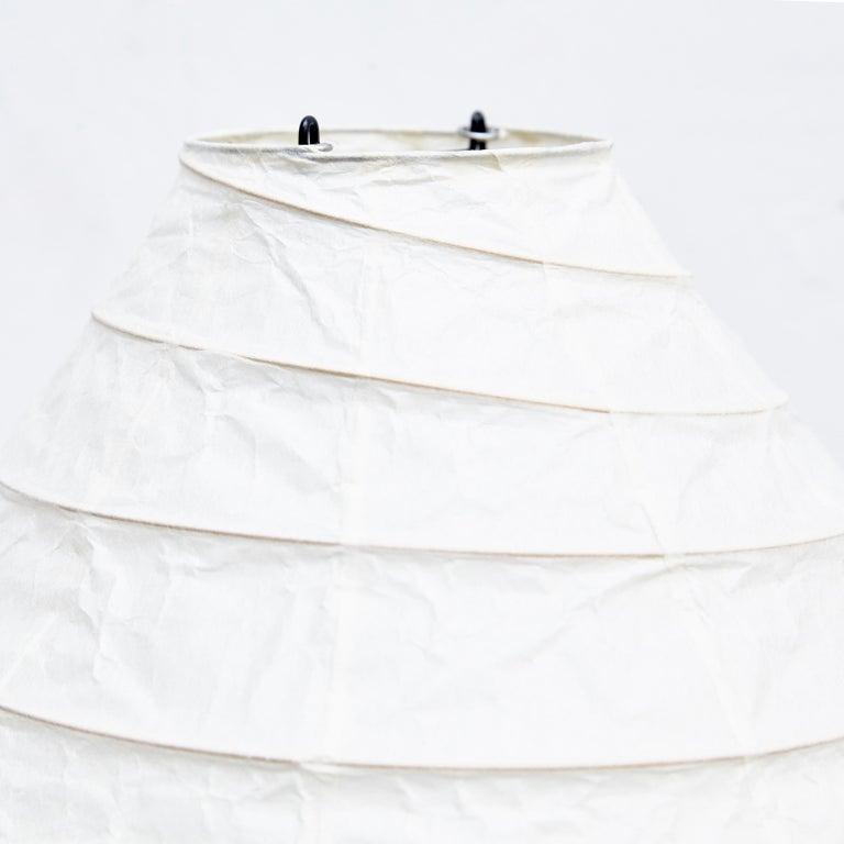 Isamu Noguchi Mid-Century Modern Akari Bamboo Washi Paper Floor Lamp 22N In Good Condition For Sale In Barcelona, Barcelona