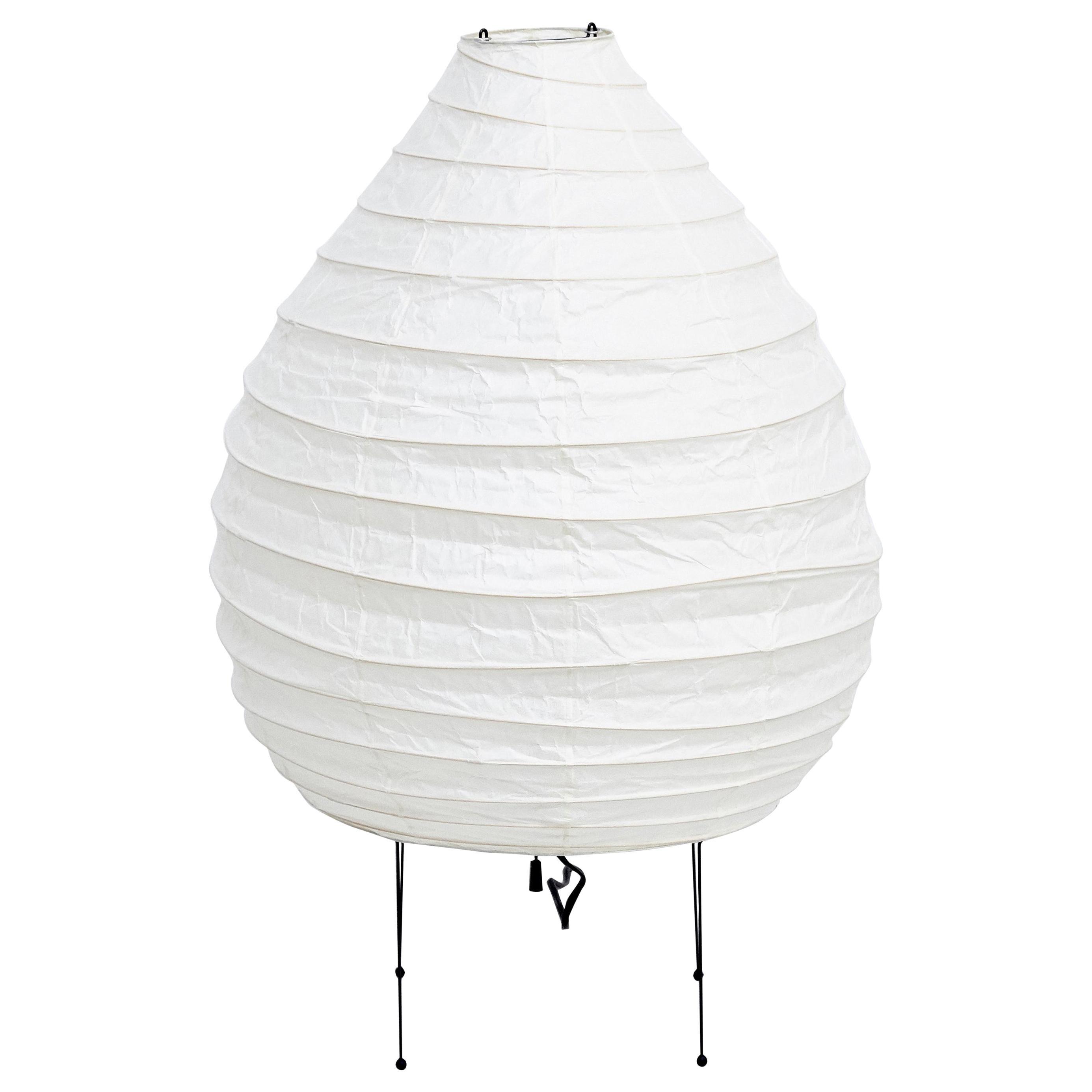 Isamu Noguchi Mid-Century Modern Akari Bamboo Washi Paper Floor Lamp 22N