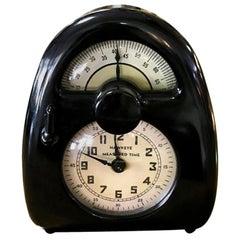 Isamu Noguchi Midcentury Pristine Measured Hawkeye Time Clock/ Timer, circa 1932