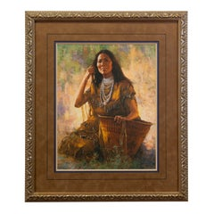 Isdzan Apache Woman Limited Edition Print by Howard Terpning